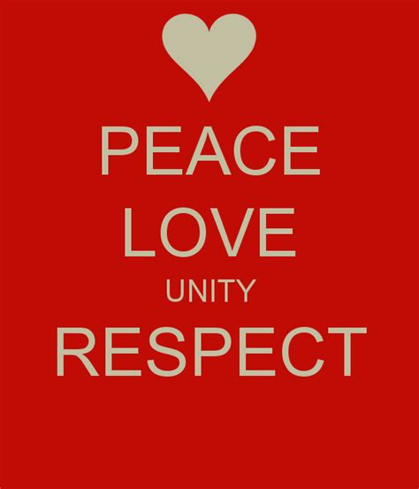 peace unity respect quotes