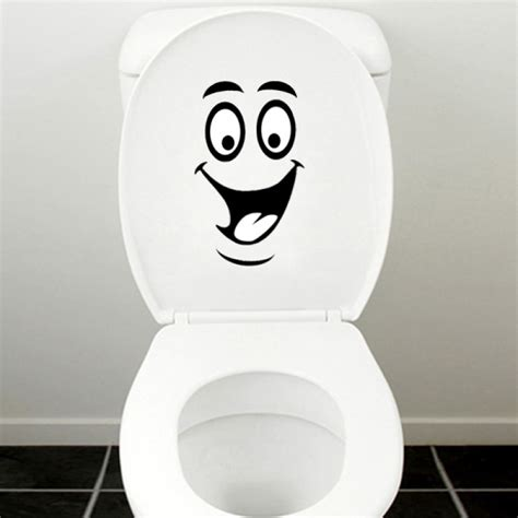 sticker bathroom buy smiling face waterproof toilet sticker bathroom