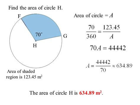 area of a circle section warm up for section ppt download