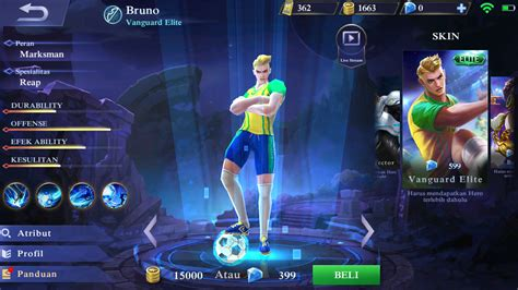 skin hero mobile legends  terinspirasi  tokoh