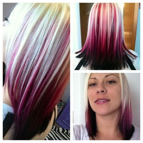 blondehairstyles with redpink in black hair with red and blonde streaks