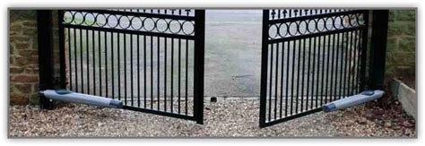automatic swing gate systems automatic swing and slide gates swing gate motor above