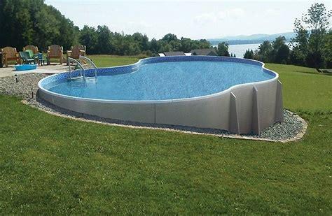 sloped backyard pool above ground pool on sloped yard landscaping gardening