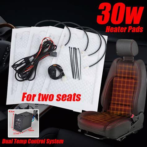 universal heated seat kit 2seats universal carbon fiber heated seat heater pad kit 2