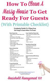 Room Organizer Tool housekeeping checklist for a messy house get ready for
