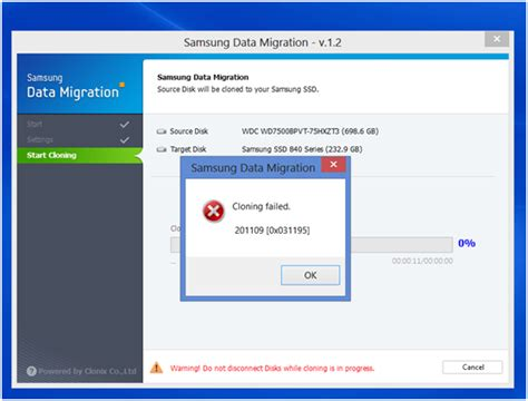 best fix samsung data migration failed issue