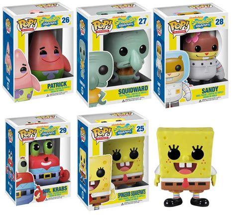 Funko Pop Spongebob Mr Krabs funko pop spongebob vinyl figures set of five spongebob squidward
