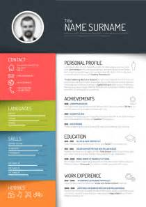 Cool Resume Template by Creative Resume Template Design Vectors 05 Vector Business Free