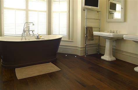should you install hardwood flooring in your bathroom
