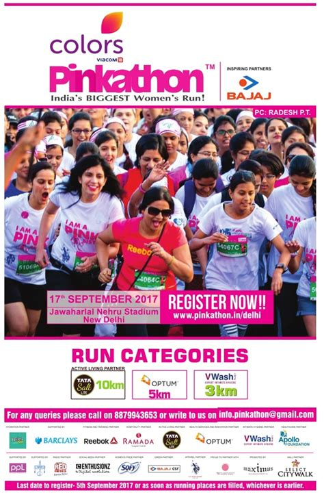 new colors for 2017 ad colors pinkathon indias womens biggest run ad advert gallery