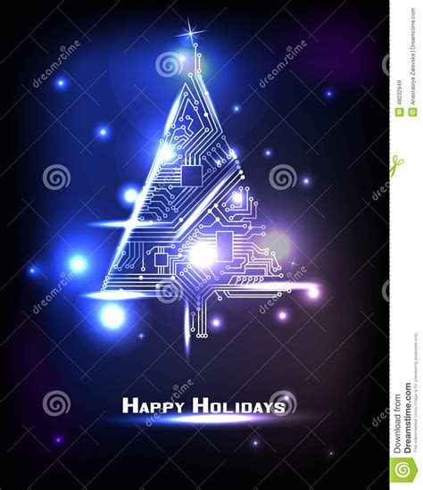 hi tech christmas tree stock vector image 48032949