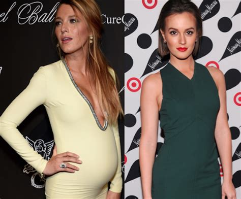 leighton meester and blake lively both having babies has attention blake lively leighton meester is fertile too