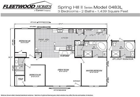 1995 fleetwood mobile home floor plans