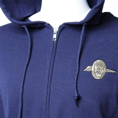 Jaket Sc 01 Navy gold wing hooded zip up jacket
