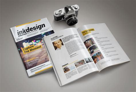 Magazine Editorial Template inkdesign magazine template pixelo