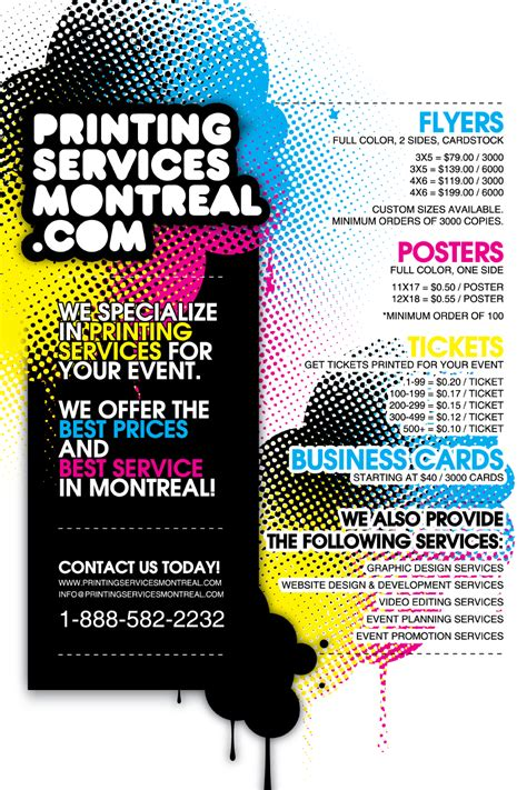 design flyer montreal printingservicesmontreal com obvious consulting