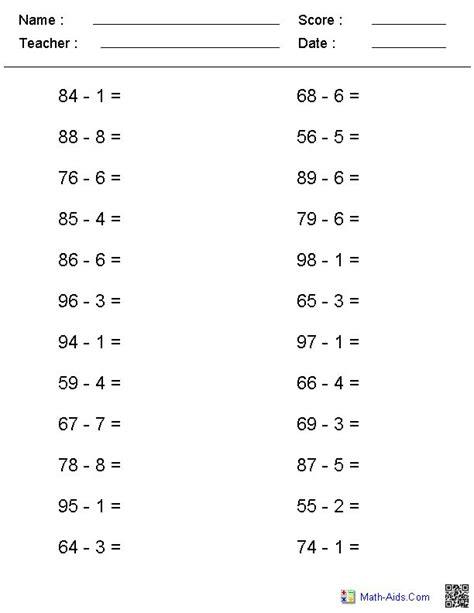 printable horizontal multiplication worksheets free horizontal math worksheets free horizontal addition