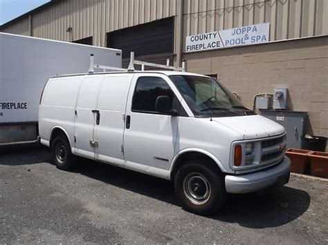 sell used 1997 chevy express van 3500 cargo runs and drives road ready in baltimore maryland