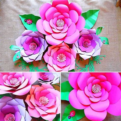 Paper Flower Kit - paper flower templates diy paper flower wall paper