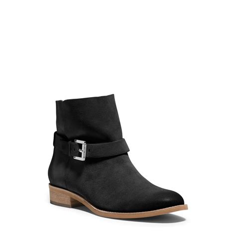 ankle boots lyst michael kors walton suede ankle boot in black