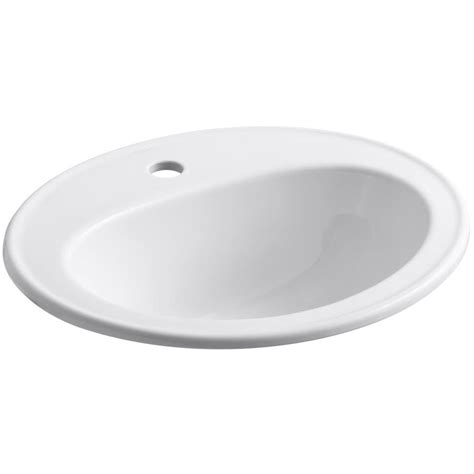 white drop in bathroom sink shop kohler pennington white drop in oval bathroom sink