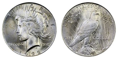 1 dollar silver coin 1922 1922 peace silver dollars normal relief value and prices