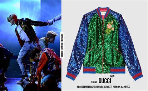 Harga Bomber Gucci til kece ini harga baju yang dipakai bts saat manggung