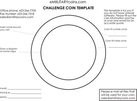 coin design template challenge coin artwork template at emilitarycoins