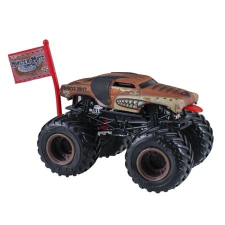 monster jam dog truck 1 64 wheels monster mutt junkyard dog truck flag