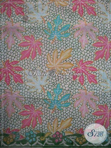 Batik Katun Motif Daun Pejabat kain batik motif daun pepaya warna elegan motif batik