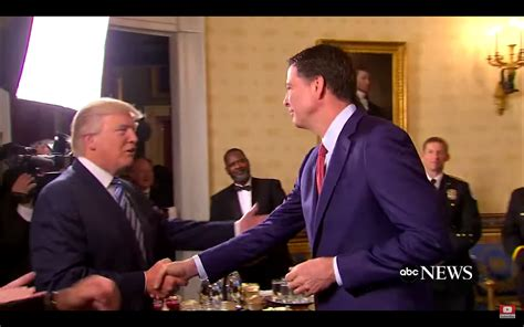 trump drapes comey disgusted when trump hugged him tried to