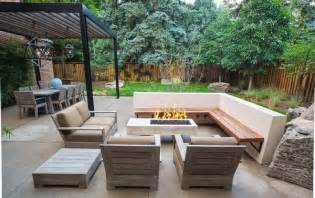Patio Furniture Lounge Chair Design Ideas Modern Patio With Corner Patio Bench And Wooden Sofa Furniture Modern Patio Design Ideas
