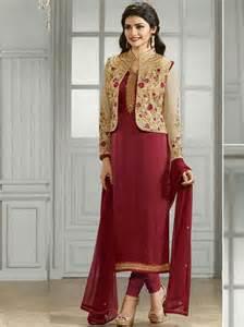 Red Color Indian Ethnic Designer Straight Salwar Kameez