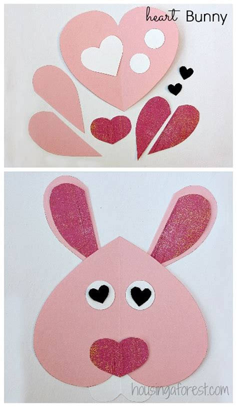 printable valentine animal crafts 6 heart shaped animals housing a forest