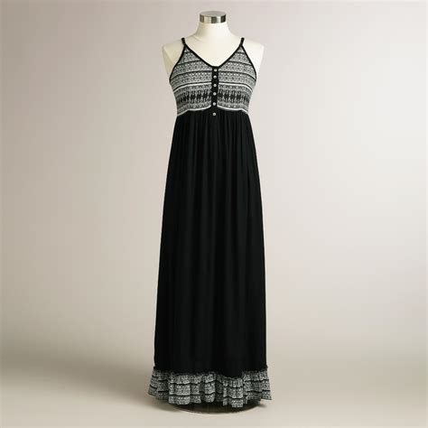 Maxi Kimora black tribal kimora maxi dress world market