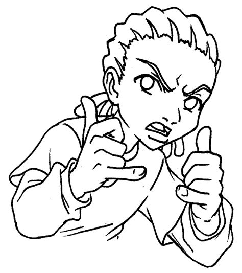 The Boondocks Coloring Pages freeman by predaguy on deviantart