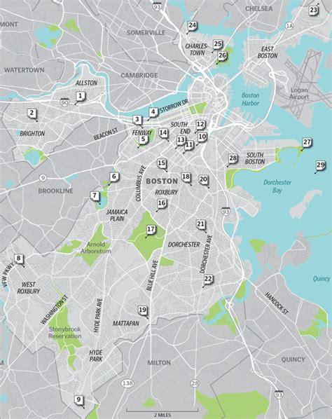 sections of boston map of boston neighborhoods