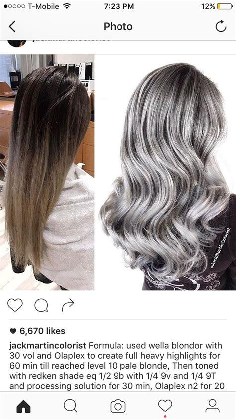 grey hair color formula 26 best hair formulas images on hair colors