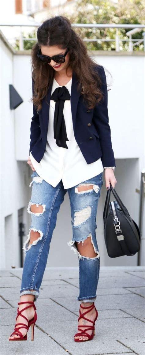 ideas para decorar jeans rotos outfits con jeans rotos 4 curso de organizacion del