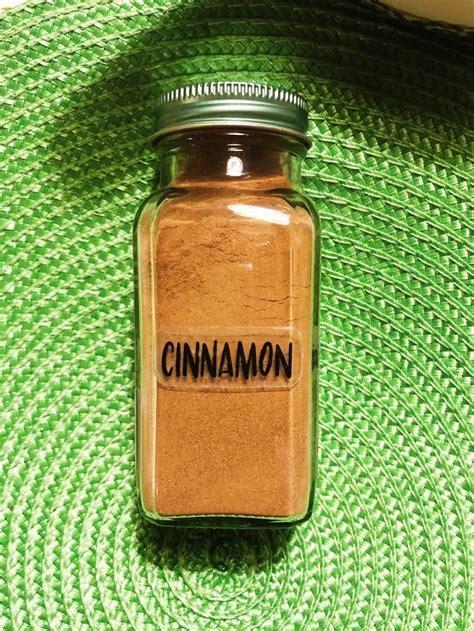 custom clear hand lettered spice jar herbs seasonings