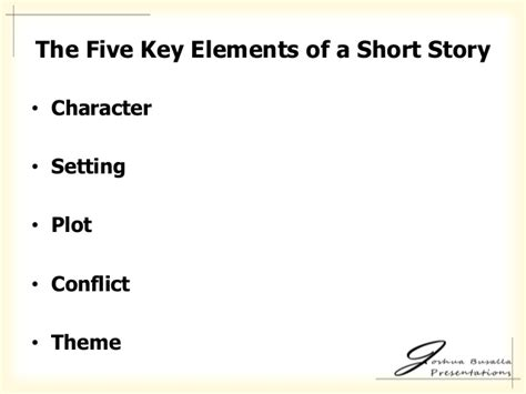 5 themes of a short story the 5 elements of a short story