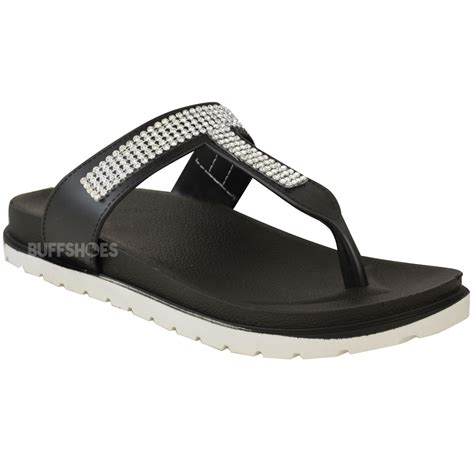 womens summer jelly sandals diamante wedge