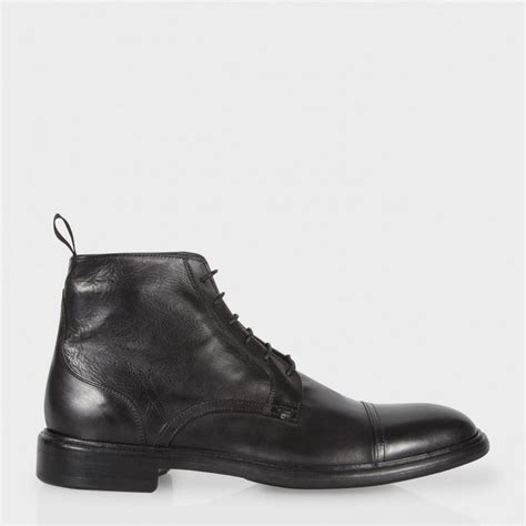 smith mens boots paul smith s black calf leather fillmore boots in