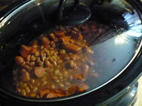 house of weenies hot dogs crock pot hot dogs franks and beans easy recipe growing up easy recipes and