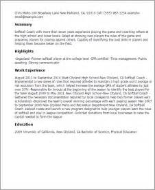 Soccer Coach Cover Letter by Coaching Resume Sles