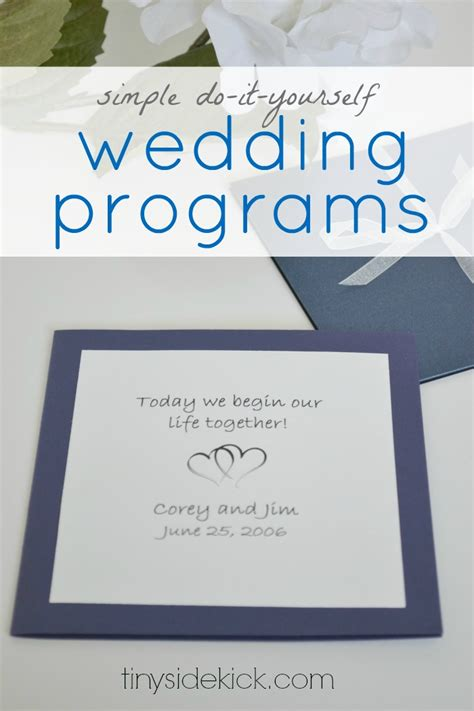 3 Simple Do It Yourself Wedding Ideas Do It Yourself Wedding Programs Templates Free