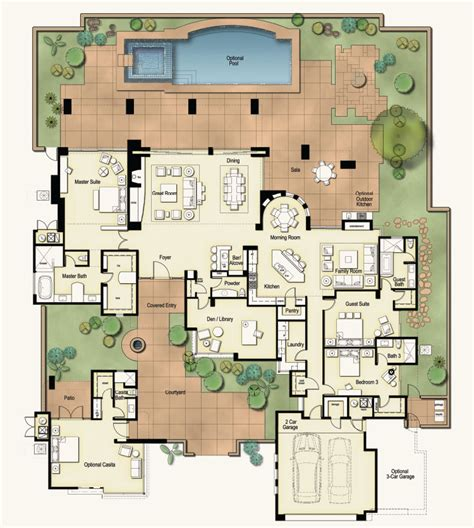 floor plan for a hacienda style house house plans hacienda floorplan the ritz carlton residences dove