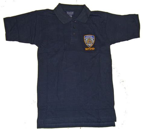 Lf 416 Dress Kemeja Polo nypd badge collectibles