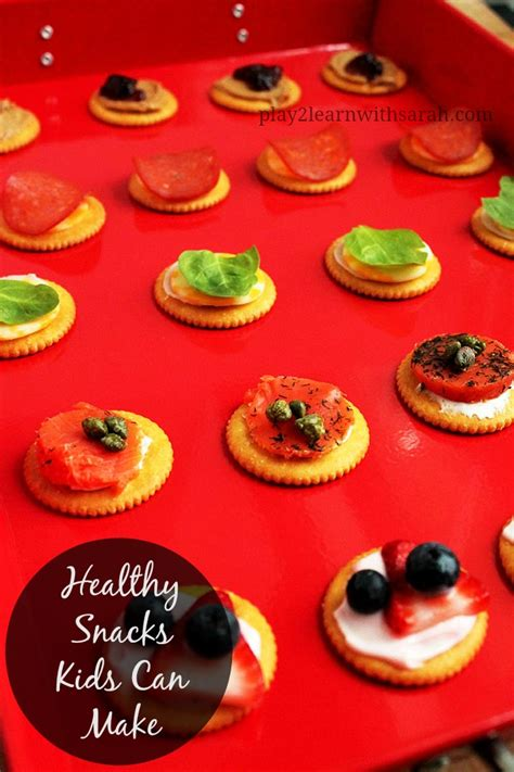 healthy snacks kids can make life love and thyme