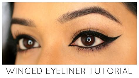 eyeliner tutorial gel liner winged eyeliner tutorial how to do winged eyeliner using